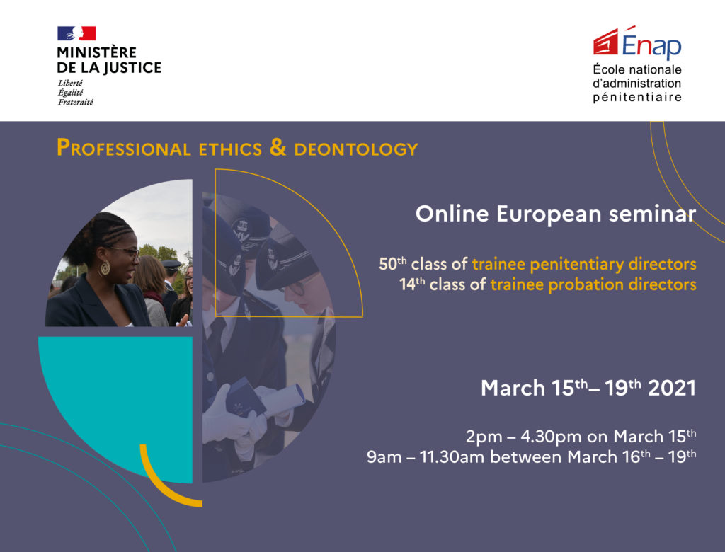 Online seminar on Ethics & Deontology in prison & probation (15-19 March 2021)