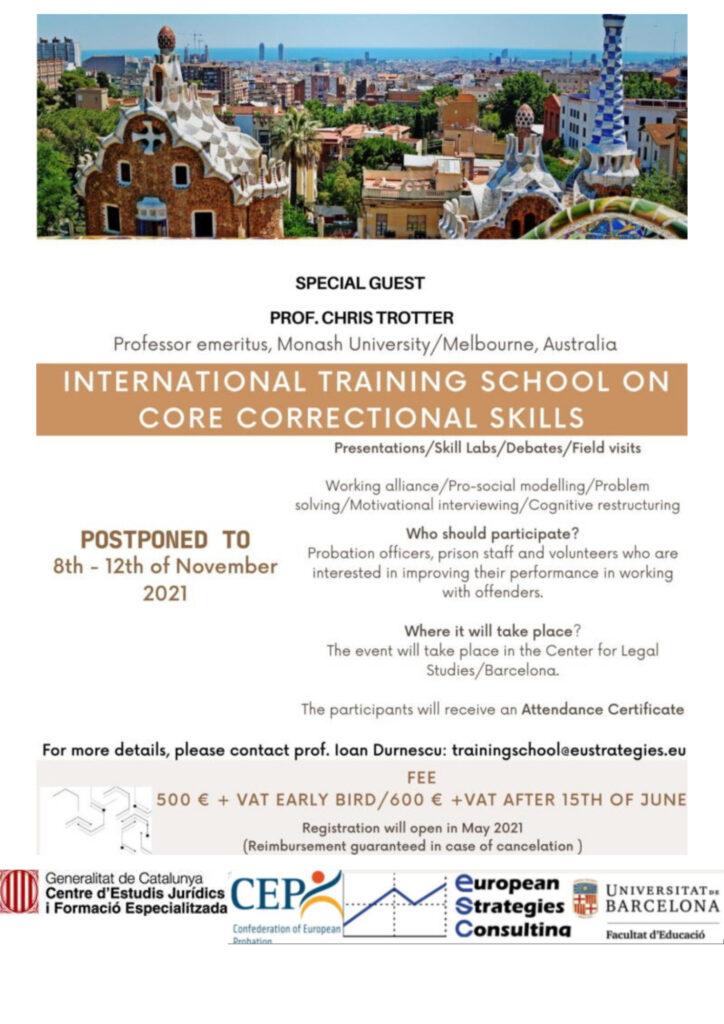 International Training School on Core Correctional Skills (2021)